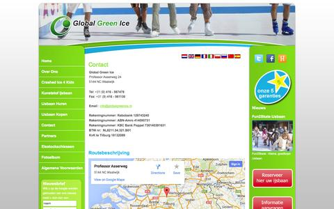 Screenshot of Contact Page globalgreenice.nl - Contact - captured Sept. 30, 2014