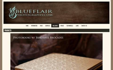Screenshot of Products Page blueflairphotography.com - Products - BlueFlair Photography - captured Sept. 30, 2014