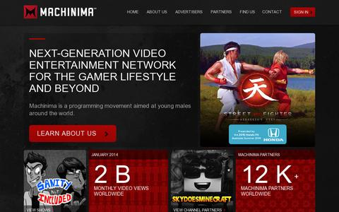 Screenshot of Home Page Contact Page machinima.com - Home - Machinima - captured July 17, 2014
