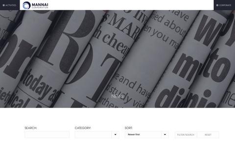 Screenshot of Press Page mannai.com - News | Mannai Corporation QPSC - captured Oct. 2, 2018