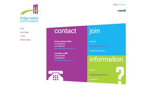 Screenshot of Contact Page bridgemedcomms.com - Bridge Medical Communications Contact Bridge Medical Communications - captured Oct. 4, 2014
