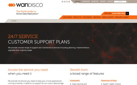 Screenshot of Support Page wandisco.com - Support - captured May 9, 2017