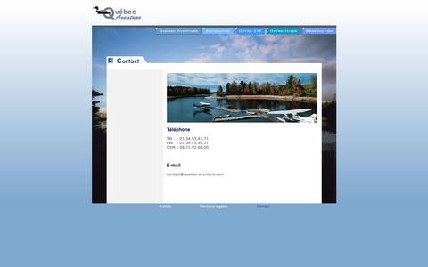 Screenshot of Contact Page quebec-aventure.com - Motoneige au Canada avec Quebec Aventure : raid motoneige, circuit motoneige, randonnée, traineau à chien - Contact - captured Jan. 21, 2017