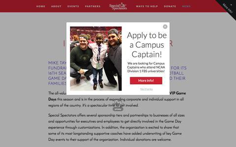 Screenshot of Press Page specialspectators.org - NEWS — Special Spectators - captured June 15, 2017