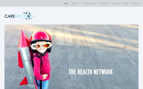 Screenshot of Home Page carenection.com - Carenection — The Health Network - captured July 18, 2015
