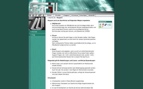 Screenshot of Support Page scar4u.de - PHP Scripts - Support  - Scar4U.de - captured Feb. 20, 2016