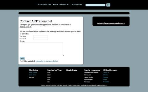 Screenshot of Contact Page alltrailers.net - Contact Alltrailers.net - AllTrailers.net - captured June 24, 2016
