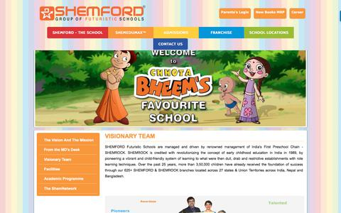 Screenshot of Team Page shemford.com - SHEMFORD Futuristic School: Meet Our Management Team - captured July 27, 2018