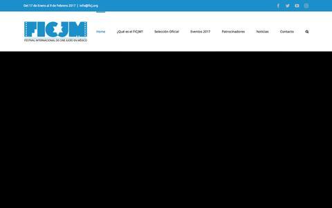 Screenshot of Home Page ficj.org - FICJM – Festival Internacional de Cine Judío en México - captured Oct. 13, 2017