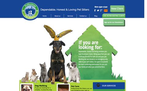Screenshot of Services Page kramerspetsitting.com - Professional Pet Sitters Chicago - captured Sept. 30, 2014