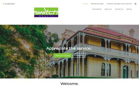 Screenshot of Home Page switchrealty.com.au - Switch Realty - Home - captured Sept. 21, 2018