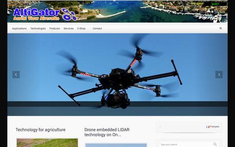 Screenshot of Home Page altigator.com - AltiGator UAV technologies - captured Sept. 19, 2014