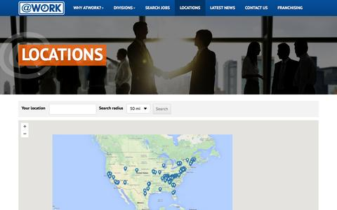 Screenshot of Locations Page atwork.com - Locations - captured Feb. 6, 2016