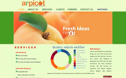 Screenshot of Services Page arpicot.com - Thiruvalla(Tiruvalla) Web Designing and development company-have web developers and web designers doing outsource works - captured March 9, 2016