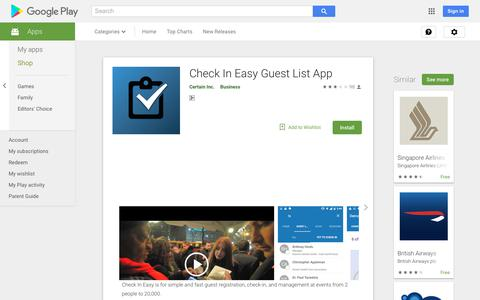 Check In Easy Guest List App - Apps on Google Play