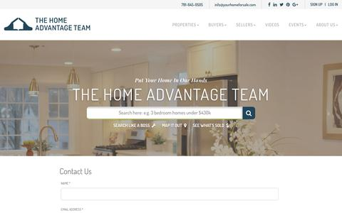 Screenshot of Contact Page yourhomeforsale.com - Contact Steve McKenna & The Home Advantage Team - captured Oct. 6, 2018