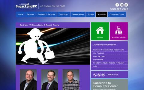Screenshot of About Page sugarlandpc.com - Business IT Consultants & Repair Techs at SugarLandPC - captured Dec. 17, 2016
