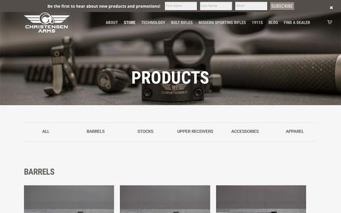 Screenshot of Products Page christensenarms.com - Products - Christensen Arms - captured May 17, 2017