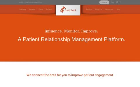 Screenshot of Home Page rxnetwork.com - RxNetwork | A Patient Relationship Management Platform - captured July 11, 2014