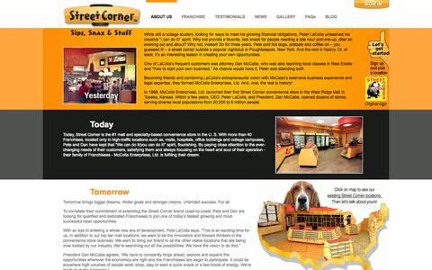 Screenshot of About Page streetcorner.com - About Us | Street Corner Franchise ™ - captured Oct. 7, 2014