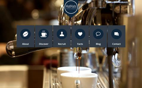 Screenshot of Home Page hathatscoffee.com - HatHats Coffee Company - captured Sept. 21, 2015