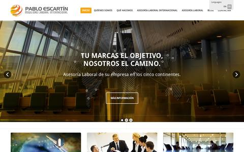 Screenshot of Home Page pabloescartin.es - Pablo Escartín / Asesoría laboral Internacional - captured Oct. 1, 2014