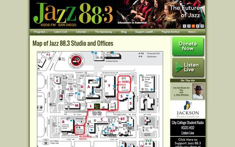 Screenshot of Maps & Directions Page jazz88.org - Map of Jazz 88.3 Studio and Offices - captured Nov. 27, 2016