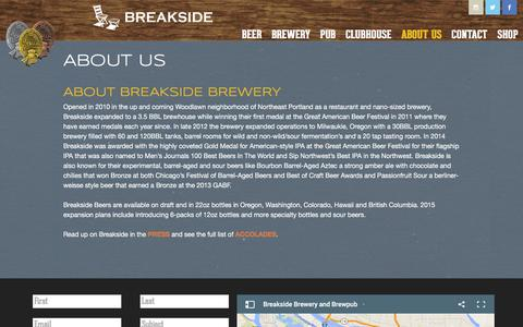 Screenshot of About Page breakside.com - About Us | Breakside Brewery - captured Feb. 8, 2016