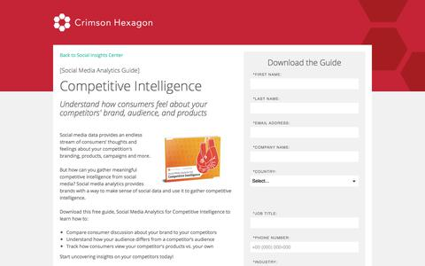 Screenshot of Landing Page crimsonhexagon.com - Social Media Analytics Guide for Competitive Intelligence - captured March 3, 2018