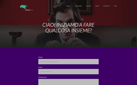 Screenshot of Contact Page combocut.com - ComboCut | Video agency: video marketing, motion grahics, spot. - captured Aug. 18, 2017