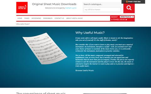Screenshot of About Page usefulmusic.com - Sheet Music For Sale - captured Oct. 20, 2018