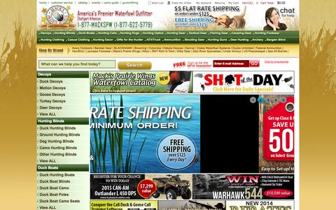 Screenshot of Home Page mackspw.com - Hunting Gear, Duck Hunting, Duck Hunting Calls and Duck Decoys - Mackspw.com - captured Sept. 22, 2014