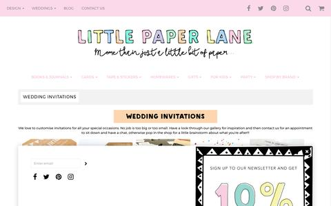Screenshot of About Page littlepaperlane.com.au - WEDDING, ENGAGEMENT, PARTY and EVENT INVITATIONS – Little Paper Lane - captured May 21, 2017