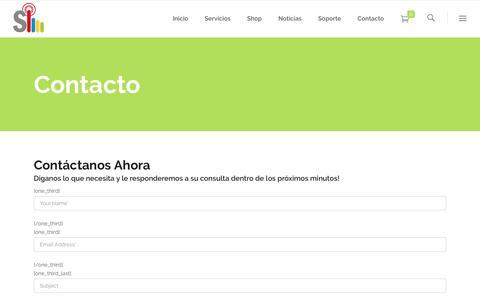 Screenshot of Contact Page sim.cl - Contacto - SIM Desarrollo y Mantención de Tiendas Virtuales. - captured Oct. 24, 2018