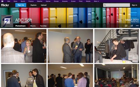 Screenshot of Flickr Page flickr.com - Flickr: ABC Soft's Photostream - captured Oct. 23, 2014