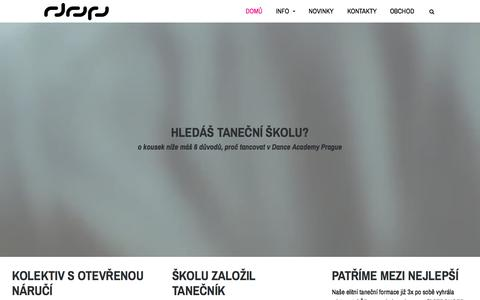 Screenshot of Home Page danceacademy.cz - Dance Academy Prague - Taneční Škola Praha - captured Sept. 26, 2015