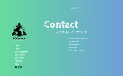 Screenshot of Contact Page eco-nnect.eu - ECOnnect » Contact - captured May 11, 2017