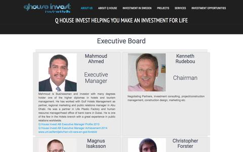 Screenshot of About Page qhouseinvest.com - About Us | Q House Invest helping you make an investment for life! - captured Dec. 5, 2015