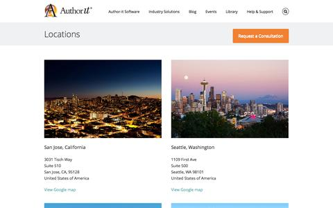 Screenshot of Locations Page author-it.com - Author-it Locations - Author-it - captured Sept. 18, 2014
