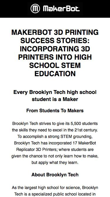 Every Brooklyn Tech Student is A Maker