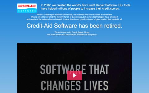 Screenshot of Home Page credit-aid.com - Credit Repair Software from Credit-Aid | Seen on CNN | FREE Demo! - captured Sept. 20, 2019