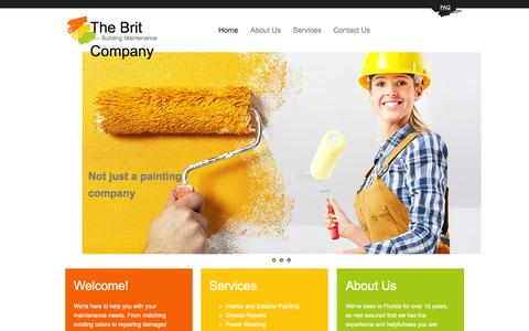 Screenshot of FAQ Page thebritcompany.com - The Brit Company in Clearwater, Fl : Home - captured Feb. 28, 2016