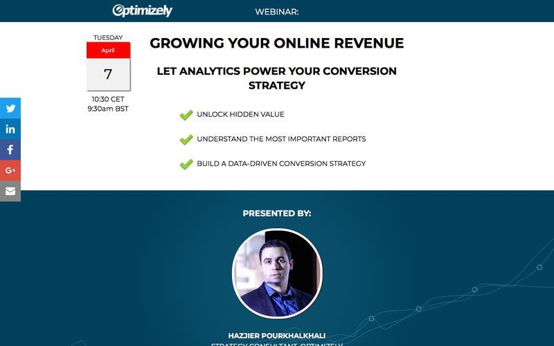 Webinar: Growing your Online Revenue - 7 April 10:30 CET