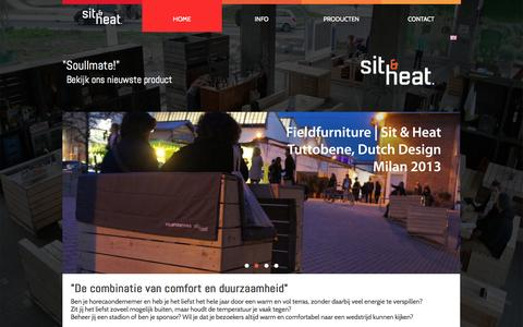 Screenshot of Home Page sitandheat.com - Sit & Heat   Energy saving heaters - captured Jan. 26, 2015
