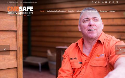 Screenshot of Home Page cnbsafe.com.au - Safety Speakers - Workplace Safety Speakers (Recommended) - captured Sept. 25, 2018