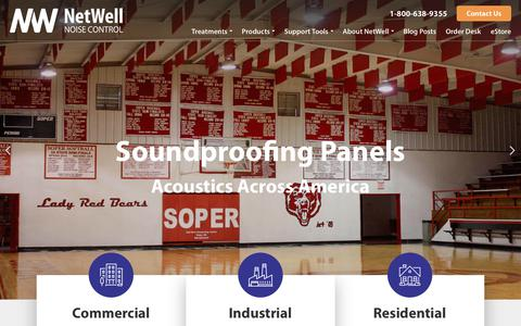 Screenshot of Home Page controlnoise.com - Soundproof Panels & Walls | Acoustic Foam | Sound Absorbing Tiles - captured Sept. 23, 2018