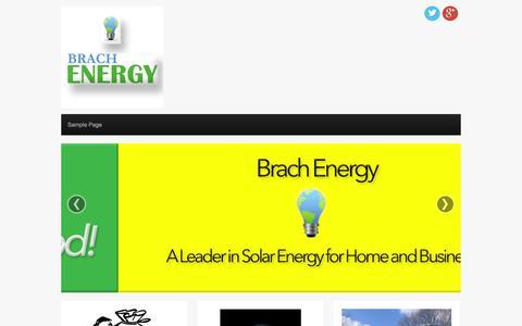 Screenshot of Home Page brachenergy.com - My Website | Just another WordPress site - captured Sept. 30, 2014