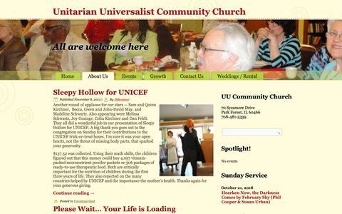 Screenshot of Blog uuccpf.org - Blog – Unitarian Universalist Community Church - captured Oct. 18, 2018