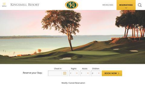 Screenshot of Maps & Directions Page kingsmill.com - Directions | Kingsmill Resort, Williamsburg VA - captured Oct. 11, 2018