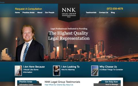 Screenshot of Testimonials Page nnklaw.com - Bill Kennedy References, Reviews, Testiminonials | NNK Legal Group PLLC - captured Oct. 7, 2014